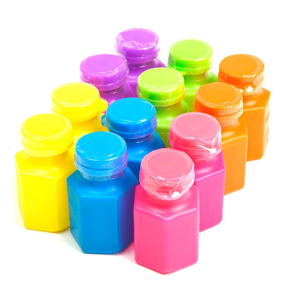Neon Party Bubble Bottles