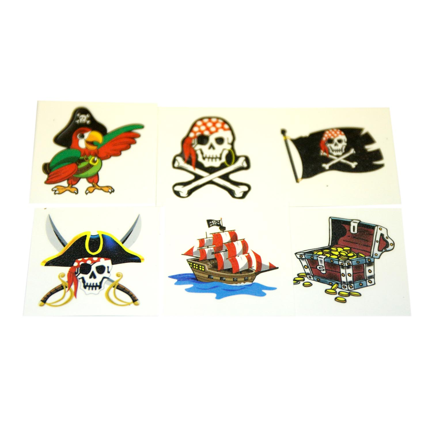 049392002599 upc pirate temporary tattoos 144 pack for Easter tattoos walmart