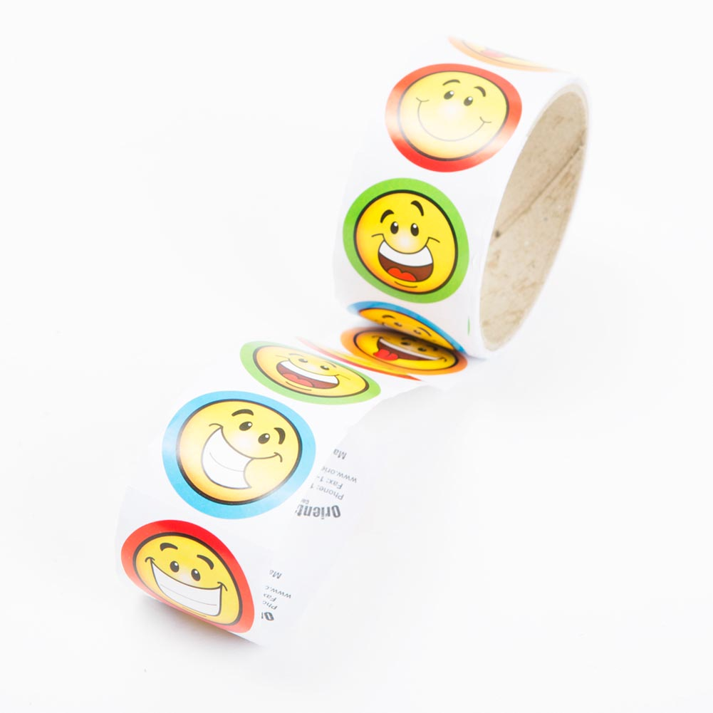 "1 1/2"""" Smile Face Stickers"" 209-594"