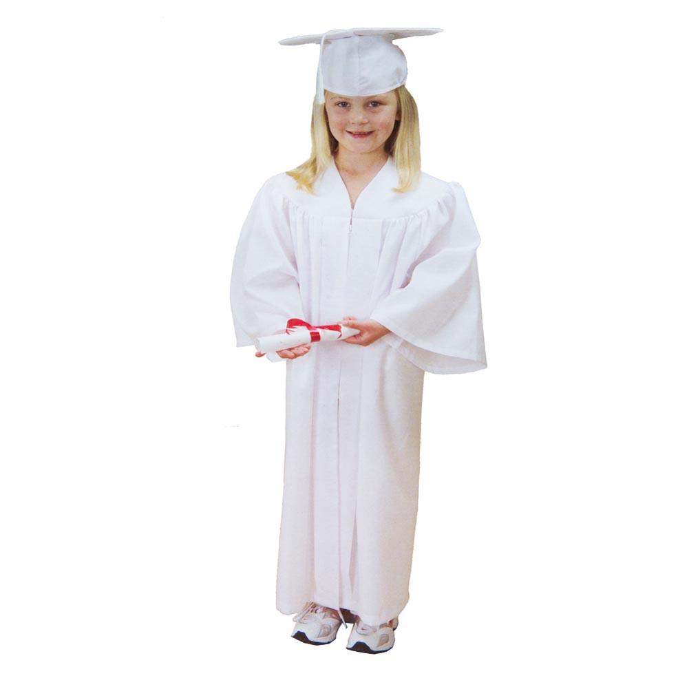Child\'s White Graduation Cap & Gown 691164317037 | eBay