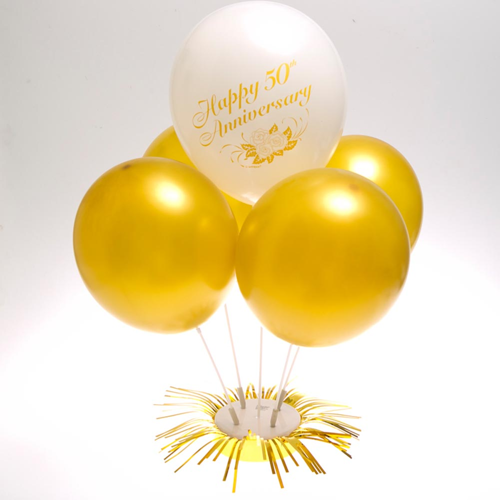 Gold Balloon Centerpiece 437-055