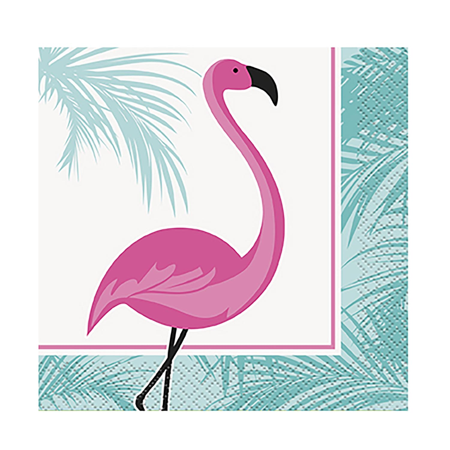 Flamingo Party Beverage Napkins