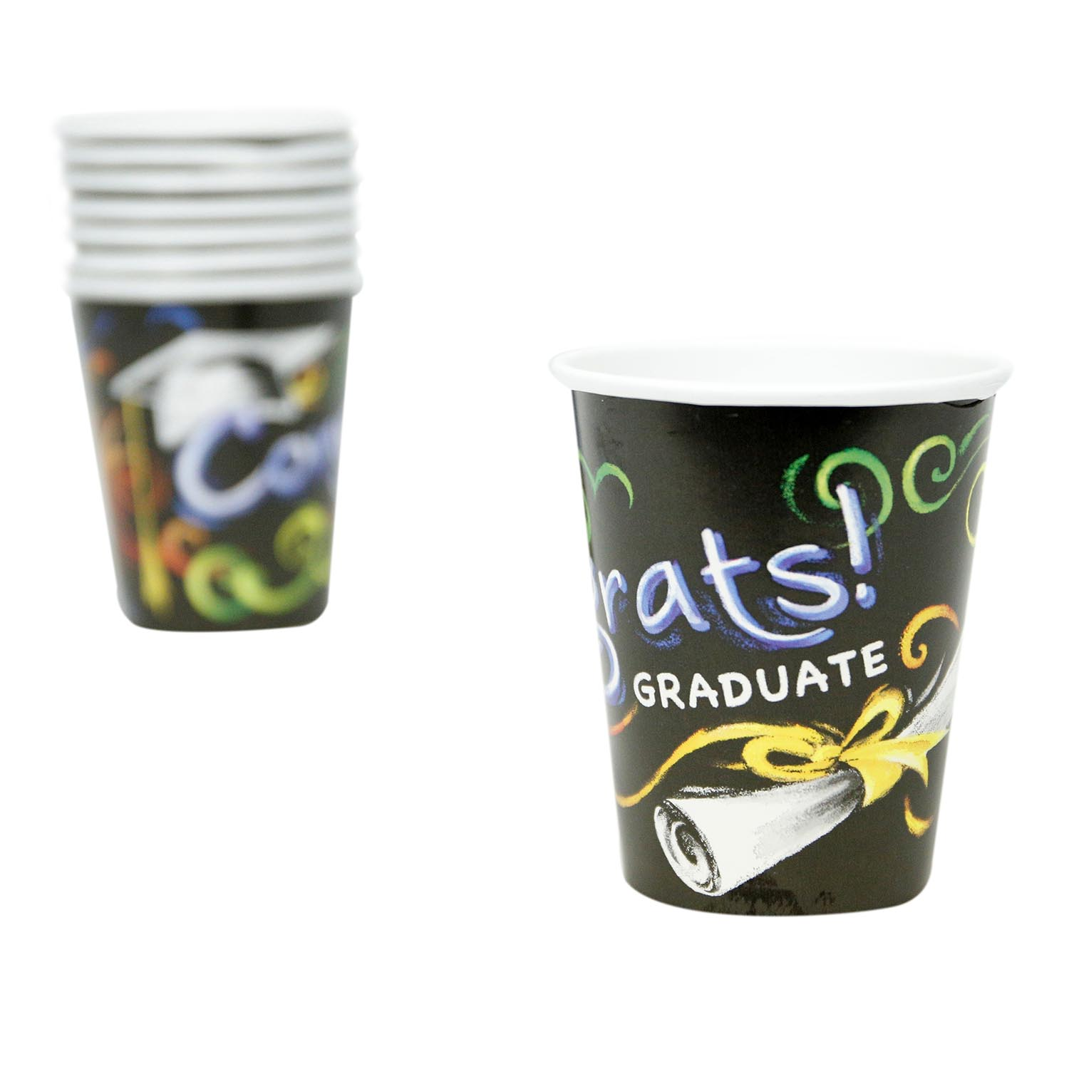 Chalkboard Graduation 9 oz. Cups 867-1018